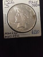 UNCIRCULATED 1926-S SILVER PEACE DOLLAR UNCIRCULATED