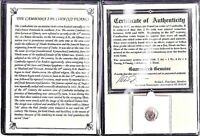 CAMBODIA 19TH CENTURY COIN WITH ALBUM STORY AND CERTIFICATE