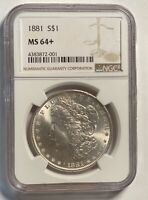 1881 P MORGAN SILVER DOLLAR NGC MINT STATE 64