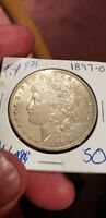 1897-O  MORGAN DOLLAR 3 EXC COIN ZERO DISTRACTING MARKS INNER EAGLE FEATHERS