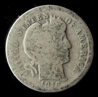 1916-P BARBER 90 SILVER DIME SHIPS FREE. BUY 5 FOR $2 OFF