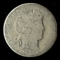1904-P BARBER 90 SILVER DIME SHIPS FREE. BUY 5 FOR $2 OFF
