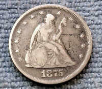 1875 TWENTY CENT PIECE RARE DATE