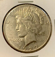 1927-P PEACE DOLLAR $1 UNCIRCULATED 90 SILVER