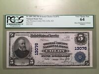 1902 $5 COLBY THOMAS COUNTY, KS FR. 609 PCGS  CHOICE NEW 64 - 2 DIGIT SN 29