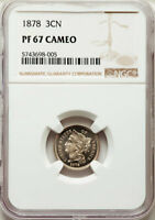 1878 THREE CENT NICKEL / NGC PF-67 CAM
