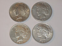 LOT  4  1923 P  X3  & S PEACE ONE $1 DOLLAR .900 90  SILVER