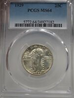 1929 25C STANDING LIBERTY QUARTER PCGS MINT STATE 64  7182