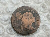 1796 FLOWING HAIR LIBERTY CAP LARGE CENT STRONG OBVERSE BENT