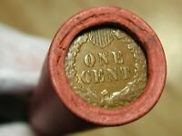 ONE  BOA SF LINCOLN WHEAT 50 CENT PENNY ROLL DOUBLE S MINT