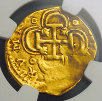 Click now to see the BUY IT NOW Price! 1621 SPAIN PHILIP III. GOLD 2 ESCUDOS COB COIN. ASSAYER V. SEVILLE  NGC AU 53