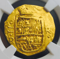 Click now to see the BUY IT NOW Price! 1653 COLOMBIA CHARLES II. SPANISH COLONIAL GOLD 2 ESCUDOS COB. 6.7GM NGC AU58