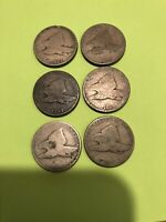 3 1857 & 3 1858 FLYING EAGLE CENT PENNY PENNIES 6 TOTAL ONE PRICE