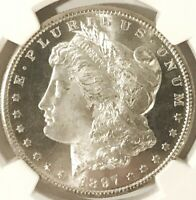 1897 S MORGAN DOLLAR NGC MINT STATE 64, GORGEOUS B&W CAMEO CONTRAST, LOOKS FULLY PL & GEM