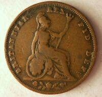1826 GREAT BRITAIN FARTHING   QUALITY RARE DATE   GREAT COIN