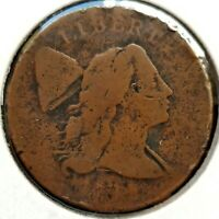 1794 FLOWING HAIR LIBERTY CAP LARGE CENT AG CIRCULATED NICE
