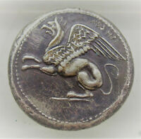 UNRESEARCHED ANCIENT GREEK AR SILVER TETRADRACHM COIN 16.72G