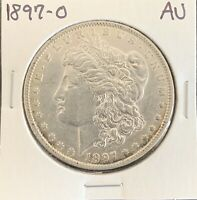1897-O MORGAN SILVER DOLLAR ABOUT UNCIRCULATED AUBETTER DATE