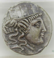 UNRESEARCHED ANCIENT GREEK AR SILVER TETRADRACHM COIN 16.55G