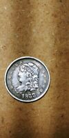 1833 CAPPED BUST HALF DIME CHOICE AU   EARLY COLLECTOR SILVE