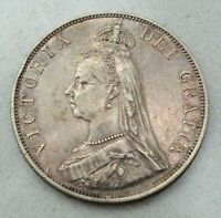 OLD 1888 BRITAIN BRITISH UK LARGE DOUBLE FLORIN COIN  VICTORIA NICE