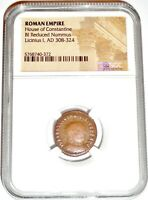 ROMAN EMPEROR  LICINIUS 1ST COIN NGC CERTIFIED.WITH STORY CE