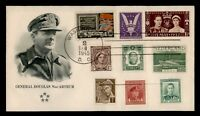 DR WHO 1945 WWII PATRIOTIC CACHET MIXED FRANK COMBO GB/JAPAN