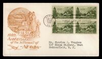 DR WHO 1951 FDC NEVADA SETTLEMENT CENTENNIAL BLOCK STAEHLE/C
