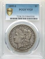 1895-S PCGS VF25 KEY DATE MORGAN SILVER DOLLAR LOW MINTAGE ONLY 400,000 FINE