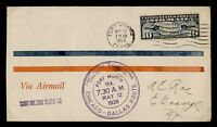 DR WHO 1926 FORT WORTH TX FIRST FLIGHT AIR MAIL C203564