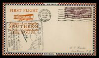 DR WHO 1930 LOS ANGELES CA FIRST FLIGHT AIR MAIL CAM 33 C203