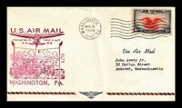 US COVER AIR MAIL PICK UP ROUTE AM 49B WASHINGTON PENNSYLVAN