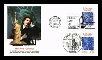 US COVER STATUE OF LIBERTY CENTENNIAL FDC COMBO JOINT ISSUE