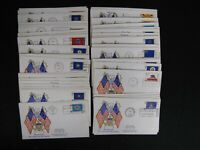 COMPLETE SET FIFTY STATE FLAGS FDC 50 FIRST DAY COVER LOT TA