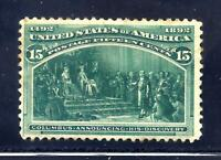 US STAMPS   238   MH HR   15 CENT 1893 COLUMBIAN EXPO ISSUE