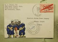 DR WHO 1944 NAVY AIRMAIL HAND MADE WWII PATRIOTIC CACHET CEN