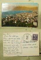 DR WHO 1952 USS BALTIMORE NAVAL SHIP CANNES FRANCE PC TO USA