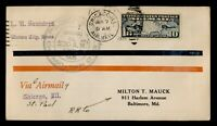 DR WHO 1926 CHICAGO IL FIRST FLIGHT AIR MAIL C203545