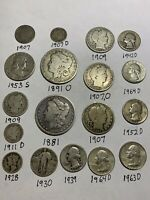 U.S. 90  SILVER COIN LOT 1881 1891 O MORGAN  DOLLARS LIBERTY