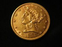 1895 S HALF EAGLE GOLD   US $5 SAN FRANCISCO MINT CLEANED NICE EXAMPLE