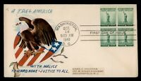 DR WHO 1940 FDC NATIONAL DEFENSE BLOCK WWII PATRIOTIC CACHET