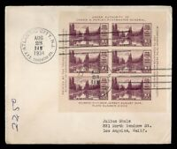 DR WHO 1934 FDC ATLANTIC CITY NJ APS CONVENTION IMPERF BLOCK