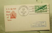 DR WHO 1941 FDC 20C AIRMAIL SPA CONVENTION STA POSTCARD  F33