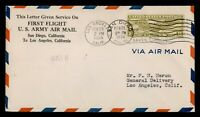 DR WHO 1934 SAN DIEGO CA FIRST FLIGHT TO LOS ANGELES CA  F33