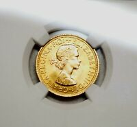 1963 GREAT BRITAIN GOLD SOVEREIGN KM 908 NGC MS 65 TOP GRADE