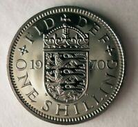 1970 GREAT BRITAIN SHILLING   PROOF   LAST SHILLING COIN   B