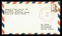 DR WHO 1981 WHITE PLAINS NY TO BERMUDA FIRST FLIGHT AIR MAIL