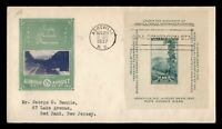 DR WHO 1937 FDC SPA CONVENTION ASHEVILLE NC IOOR CACHET S/S