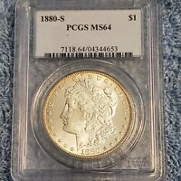 1880-S MORGAN SILVER DOLLAR PCGS MINT STATE 64