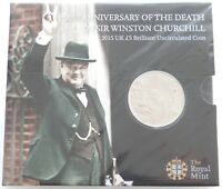 2015 ROYAL MINT WINSTON CHURCHILL BU 5 FIVE POUND COIN PACK